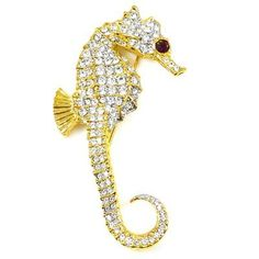 Kenneth Jay Lane Large Crystal & Gold Plated Seahorse Brooch Pin Kenneth Jay Lane, http://www.amazon.co.uk/dp/B005KPJEQG/ref=cm_sw_r_pi_dp_tlQzsb157Q7EC