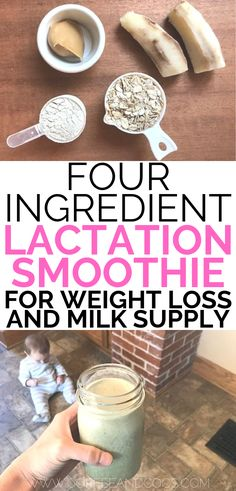 Four ingredient lactation smoothie recipe for breastfeeding moms. A delicious peanut butter and banana lactation smoothie to help you increase milk supply and lose weight. Enjoy a protein shake packed with superfoods that will help you curb suga Breastfeeding Smoothie, Breastfeeding Snacks, Breastfeeding Tattoo, Coffee While Breastfeeding, Breastfeeding Quotes, Breastfeeding Positions, Lactation Recipes, Lactation Cookies, Lactation Foods