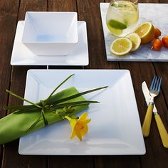 White tableware is the perfect backdrop for a pop of colour. Color Pop, Colour, Canadian Tire, Salad Bowls, Oasis, Lotus, Party Ideas, Seasons, Canvas