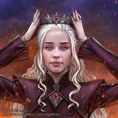 👑Daenerys Targaryen the Crowned Queen 👑🐉Do you wish it's happen? 🔥 General Commission Info HERE If you l. Daenerys Targaryen the Crowned Queen Game Of Thrones Queen, Game Of Thrones Funny, Game Of Thrones Houses, Game Of Thrones Wallpaper, Game Of Thrones Artwork, Daenerys Targaryen Art, Game Of Throne Daenerys, Khaleesi, Happy Birthday My Queen