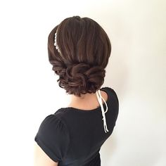 This beautiful updo bridal hairstyle perfect for any wedding venue