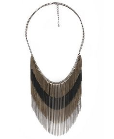 Cleopatra - Chain Fringe Necklace - Forever21 - $10.80
