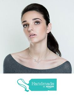 Silver Pendant Necklace, Silver Jewelry, Molecule Necklace, Wine, Silver Jewellery