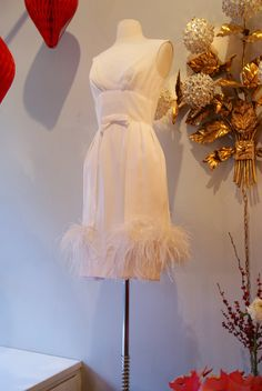 60s Cocktail Party Dress // 60s Wedding Dress // by xtabayvintage, $298.00