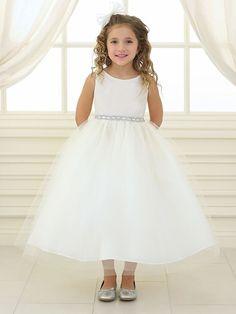 e4469d521e Ivory Rhinestone Waistband Tulle Dress Toddler Pageant Dresses