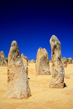 The Pinnacles, Nambung National Park,, Western Australia - Outback Australia Outback Australia, Visit Australia, Australia Travel, Western Australia, Kalbarri National Park, Nambung National Park, Pinnacles Desert, Australia Occidental, Flora Und Fauna