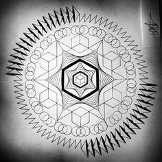 art #mandala #sacredgeometry #symmetry #design... - leboyyy
