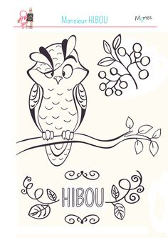 Monsieur Hibou habite dans la forêt avec tous ses amis animaux ! Imprimez ce coloriage gratuit pour enfants et à vos crayons !