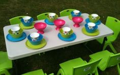 We can help design a 'Party Table' for you using re-useable plates, cups and bowls Kids Party Hire, Kids Party Tables, Party Chairs, Adjustable Height Table, Colorful Chairs, Little People, Birthday Candles, Party Supplies, Baby Kids