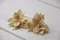 Cards by Camilla: How to make flowers from coofee filter using dies and Sizzix tools ♥