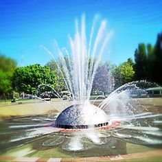 """International Fountain on the grounds of the Seattle's World Fair, """"Century 21"""".  It's still a great place to sit and enjoy sunshine and people watching on a sunny summer's day."""