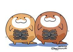 ทวีตสื่อโดย 鍵条漆@こつめってぃ ぬいぐるみ3/9~ (@kagijouurushi) | ทวิตเตอร์ Otter Cartoon, Turning Japanese, My Heritage, Manga Drawing, Otters, Cute Baby Animals, Cute Babies, Chibi, Kawaii