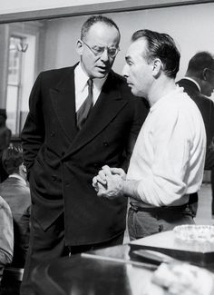 co-founders Lincoln Kirstein and George Balanchine, conferring in a New York City dance studio, circa City Ballet, Ballet Dance, City Dance, Jerome Robbins, Ballet Pictures, George Balanchine, Dance Studio, Holiday Traditions, Mix N Match