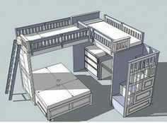 Triple bunk bed layout!!