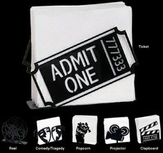 Theatrical Napkin Holder-Home Theater Decor