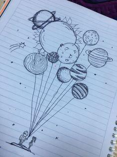 Pin de 🤪 em art ♡ em 2019 art sketches, art drawings e doodle art. Space Drawings, Cool Art Drawings, Pencil Art Drawings, Doodle Drawings, Art Drawings Sketches, Easy Drawings, Tattoo Sketches, Tattoo Drawings, Cute Drawings Tumblr