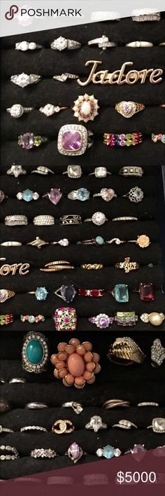 Rings Gold, gold plated, and silver.  Inquire for prices Jewelry Rings
