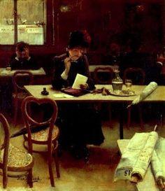 1910..........FEMME AU CAFÉ........PARTAGE DE LE PEINTRE JEAN BERAUD...........SUR FACEBOOK......
