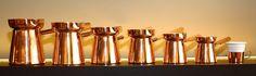 Unsere Famile türkischer Kaffeekannen ist komplett! Jedes Stück ein #Unikat und #handgefertigt! Our Family of turkish coffee pots is complete! Each one is #handcrafted and #unique!  #turkishcoffee #cezve #ibrik #handmade #coffeebrewing