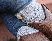 Child Crochet Boot Cuffs embellished with a handmade button, boot toppers Boot sock leg warmers. Choose your color