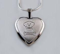 Sterling Silver Dog Locket