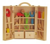 Producto para niños de 4 a 7 años Juego de herramientas que incluye 25piezas Estimula la creatividad Desarrolla la imaginación Materialidad: Madera