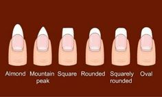 Nail shapes.