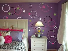 trendy bedroom paint colors for teens wall art Wall Decals For Bedroom, Bedroom Decor, Bedroom Ideas, Teen Wall Art, Bedroom Paint Colors, Teen Girl Bedrooms, Little Girl Rooms, Home And Deco, Trendy Bedroom
