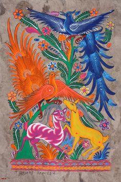 Mexican Folk Art by kristine Zentangle, Latino Art, Madhubani Art, Madhubani Painting, Folk Embroidery, Embroidery Materials, Embroidery Designs, Mexican Folk Art, Mexican Artwork