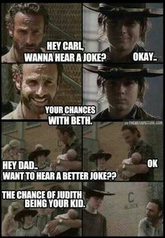 The Walking Dead humor - TV series show  [who is the baby's daddy?]