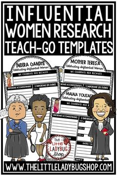 Influential Women's History Month Research Organizers: This organizer research project contains women important to history. After the individual Window Organizers are completed, they can be displayed in the classroom or in a common area of the school to show off just how appreciated the women who made such a difference in the world are! Perfect for 3rd grade, 4th grade, 5th grade and home school classrooms. #womenshistorymonth #womenshistorymonthbulletinboard