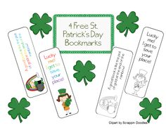 4 free St. Patrick's Day boomarks