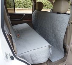 Details About Suv Truck Car Back Seat Cover For Dogs And Cats Quilted Padded Gray New