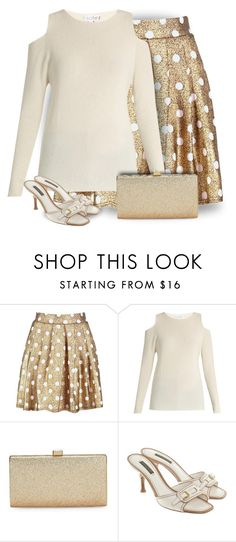 """Gold & White"" by majezy ❤ liked on Polyvore featuring Boohoo, Velvet by Graham & Spencer, La Regale and Louis Vuitton"