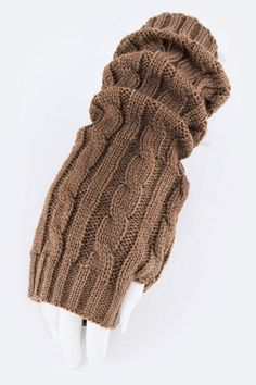 Hand warmers-Fingerless gloves cable knit - Hand warmers-Fingerless gloves cable knit crochet crochet arm warmers, warm and cozy style! More colors available! - On Sale for $19.00 (was $29.00)