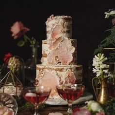 """Wedding Cake and Wedding Invitation Ideas - Geode Cakes """"Step aside traditional wedding cakes, geode, and concrete cakes are taking over o..."""" #traditionalweddinginvitationsideas #traditionalweddingcakes"""