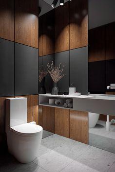 Akhunov Architects, guest toilet / гостевой туалет / Дизайн интерьера в Перми и не только