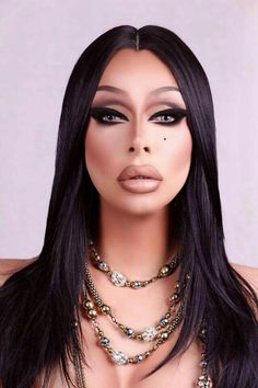 The Ice Queen Cometh: Emmy-nominated Drag Race Star Raven Brings Her Dramatic Act to San Antonio's Main Strip Valentina Rupaul Drag Race, Valentina Drag, Drag Queen Makeup, Drag Makeup, Eye Makeup, Drag Queens, Makeup Inspo, Makeup Inspiration, Raven Drag Queen