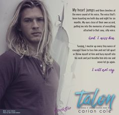 Talon - book 4 - Ashes & Embers series Model: Justin Zabinski, photo by Maria Seidel Ashmore