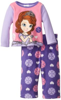 91d9600315 Sofia the First Baby Girls Microfleece 2 Piece Pajama Set Multi 24 Months   gt  gt