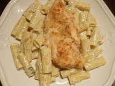 CopyKat's Biltmore Estate Chicken Breasts with Rigatoni tossed with a blue cheese sauce...Ummmm Doggies!