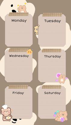 Study Schedule Template, Timetable Template, Schedule Design, Planner Template, Notes Template, Cute Pastel Wallpaper, Wallpaper Iphone Cute, Kawaii Wallpaper, Wallpaper Quotes