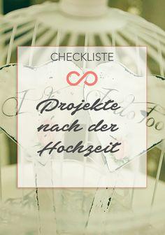 Auch nach der Hochzeit gibt es noch einige Dinge zu erledigen. Unsere praktische Checkliste hilft den Überblick zu behalten. #hochzeit #heirat #checkliste