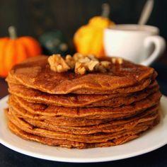 100% Whole Grain Pumpkin Protein Pancakes
