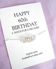 60th Birthday Gifts Women Necklace Gift Jewelry For Her 6 Solid Sterling Silver Circles