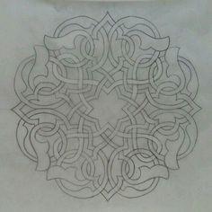 Islamic Art Pattern, Arabic Pattern, Pattern Art, Celtic Patterns, Celtic Designs, Mandala Design, Motifs Islamiques, Art Arabe, Turkish Art