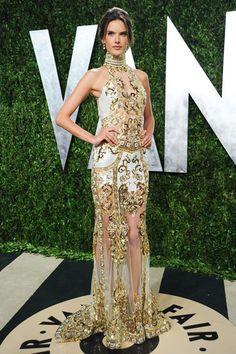 Alessandra Ambrosio wears Zuhair Murad to the @VANITY FAIR Oscars party