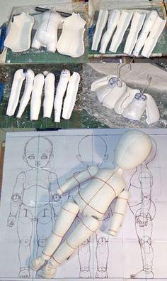 Sculpting Tutorials, Doll Making Tutorials, Cute Polymer Clay, Polymer Clay Dolls, Doll Crafts, Diy Doll, Bjd Dolls, Doll Toys, Muñeca Diy