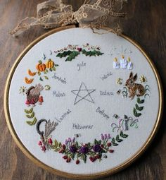 Embroidery Art, Cross Stitch Embroidery, Embroidery Patterns, Cross Stitch Patterns, Hanging Banner, Witchcraft, Wiccan, Magick, Book Of Shadows