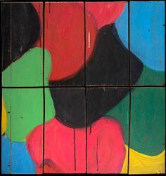 "Mary Heilmann, Rombecabeza Uno, 2000, Acrylic on Panel (8 parts), 28"" x 26"""